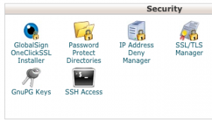 cPanel Password Protect